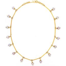 Gold Greecian Bar Collar-0