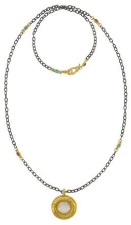 Gold Frame Necklace-0