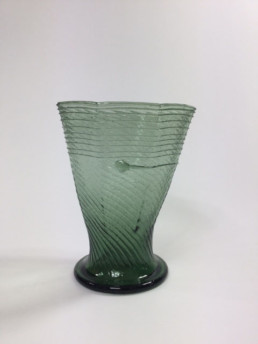 Gothic angular optic-blown cup with spider-0