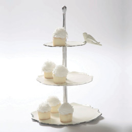 Dove Dessert Stand Oyster-0