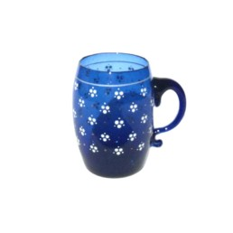 Blue Painted Cups With White points-0