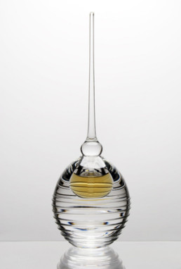 Round Hand Blown Glass Perfume Bottle-0