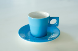 Azure Blue Modern Espresso Cup And Saucer-0