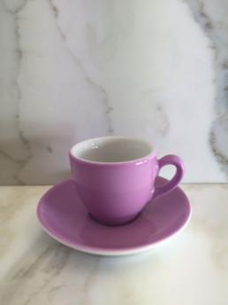 Light Violet Espresso Cup And Saucer-0
